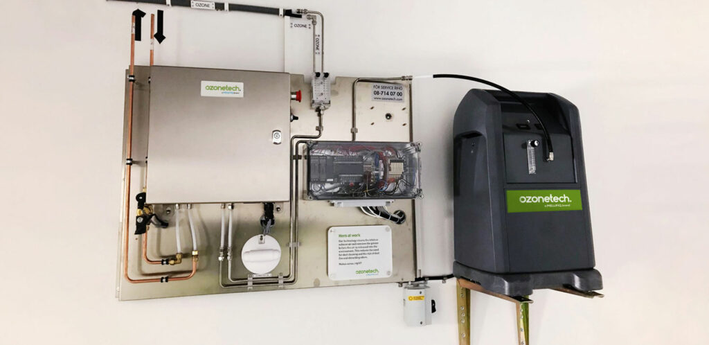 Onyx Oxygen Concentrator Connected to Ozonetech Rena Kitchen Solutions System